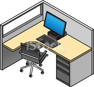 office cubicle premium clipart