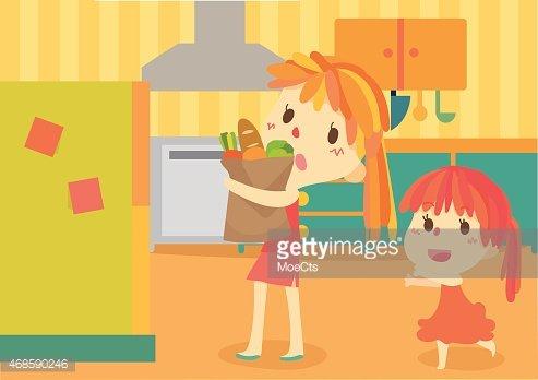 macys kitchen aid hape play 可爱的母亲和她的孩子在厨房里 premium clipart clipartlogo com
