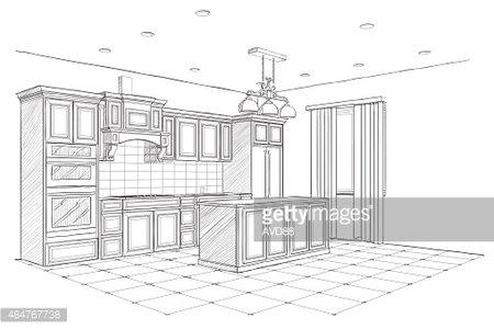 islands for the kitchen bosch mixer 现代厨房与岛屿的内部剪影 premium clipart clipartlogo com
