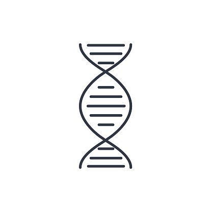 Vector DNA icon. Modern flat design vector illustration