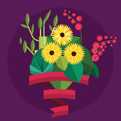 Clipart Fleurs Anniversaire