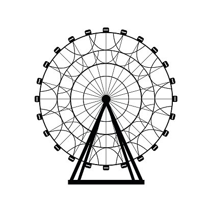 Ferris Silhouette Circle Carnival Funfair Background