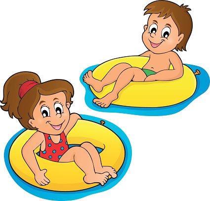 Kinder Schwimmen Ringe Bild 1 premium clipart  ClipartLogocom