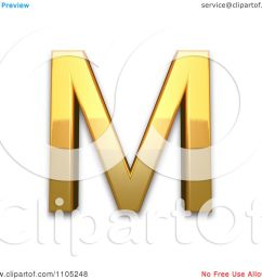 3d gold capital letter m clipart royalty free vector illustration by leo blanchette [ 1080 x 1024 Pixel ]