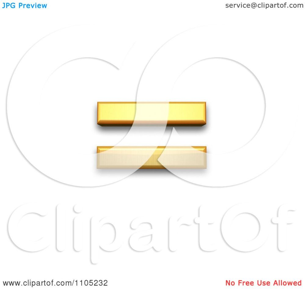 medium resolution of 3d gold equals sign clipart royalty free vector illustration by leo blanchette