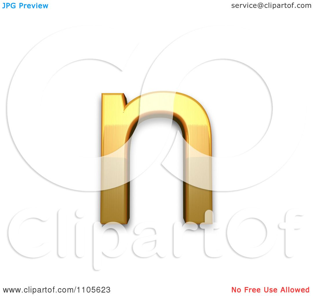 hight resolution of 3d gold small letter n clipart royalty free cgi illustration by leo blanchette
