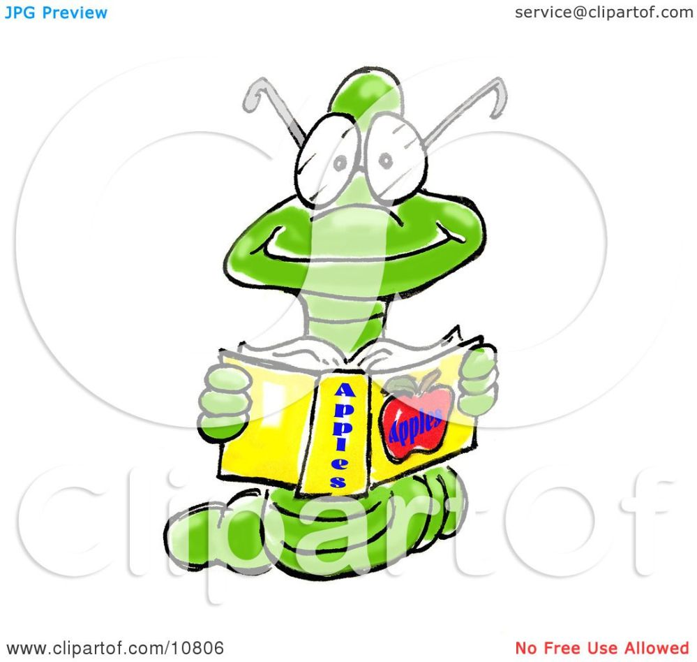 medium resolution of a young male bookworm wearing glasses reading a book about apples clipart illustration spanky art jpg