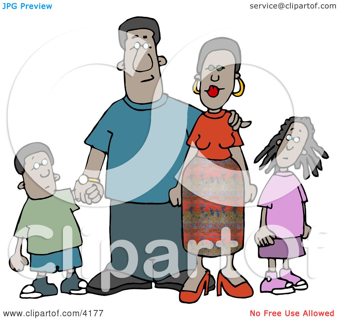 hight resolution of  african american family clip art african american family standing together as a group