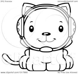 cute cartoon cat kitten animal clipart outline wrestler lineart illustration vector happy thoman cory royalty mad