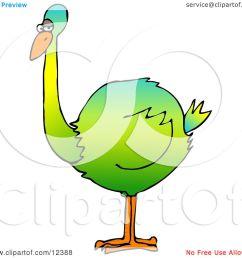 big colorful green flightless bird clipart picture by djart [ 1080 x 1024 Pixel ]