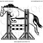 Black And White Horse Jumping By Vector Tradition Sm 1631172