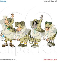 boy scouts wearing hiking gear and waving their hands goodbye clipart by djart [ 1080 x 1024 Pixel ]