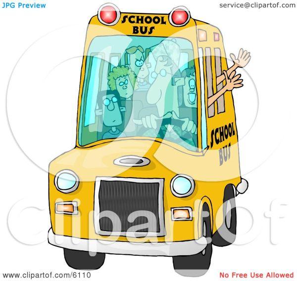 Elementary School Bus Clip Art
