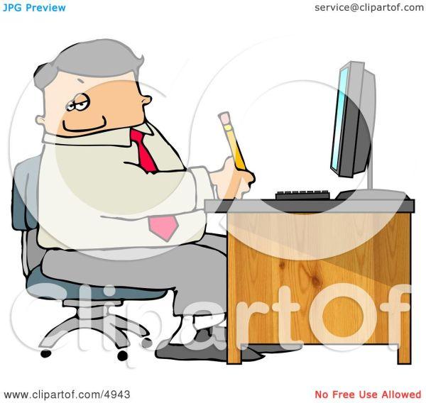 business man filling paperwork