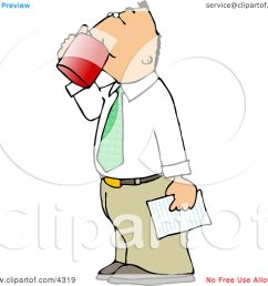 businessman holding a letter and drinking a cup of coffee clipart by djart [ 1080 x 1024 Pixel ]