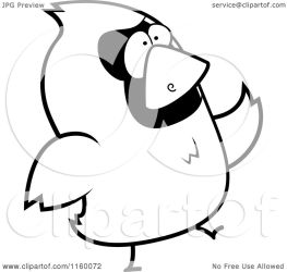 bird walking cartoon clipart thoman coloring outlined cory vector protected collc0121 royalty license copyright law without