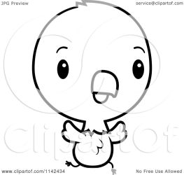 cute eagle baby chick bald clipart cartoon running american coloring thoman cory outlined vector