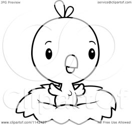baby chick cute nest cartoon clipart coloring thoman cory outlined vector royalty collc0121 protected license copyright law without