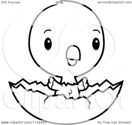 egg baby cute parrot eagle shell cartoon clipart american chick hatching coloring vector bald outlined cory thoman clipartof