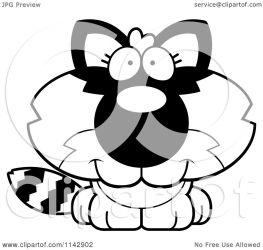 raccoon goofy baby cute coloring cartoon clipart vector outlined thoman cory clip royalty clipartof background regarding notes
