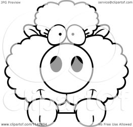sheep cute baby clipart cartoon looking surface coloring vector cory thoman outlined regarding notes