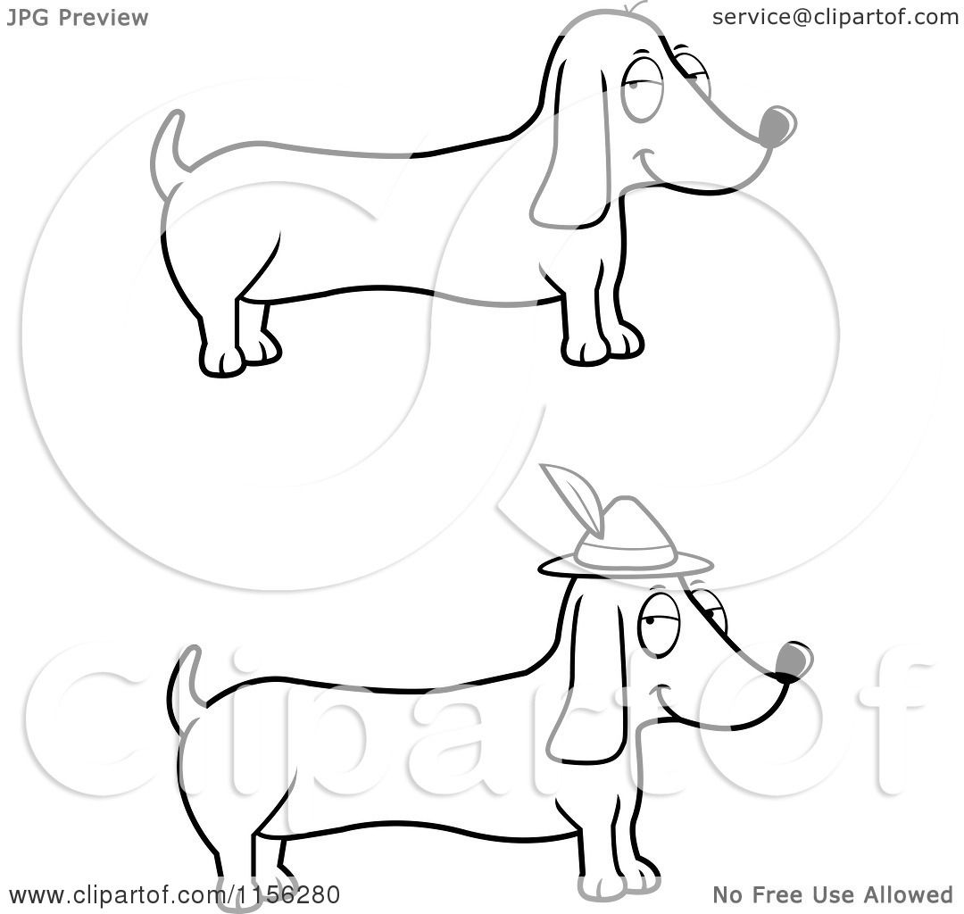 Pin Dachshund Coloring Pages Sketch Coloring Page