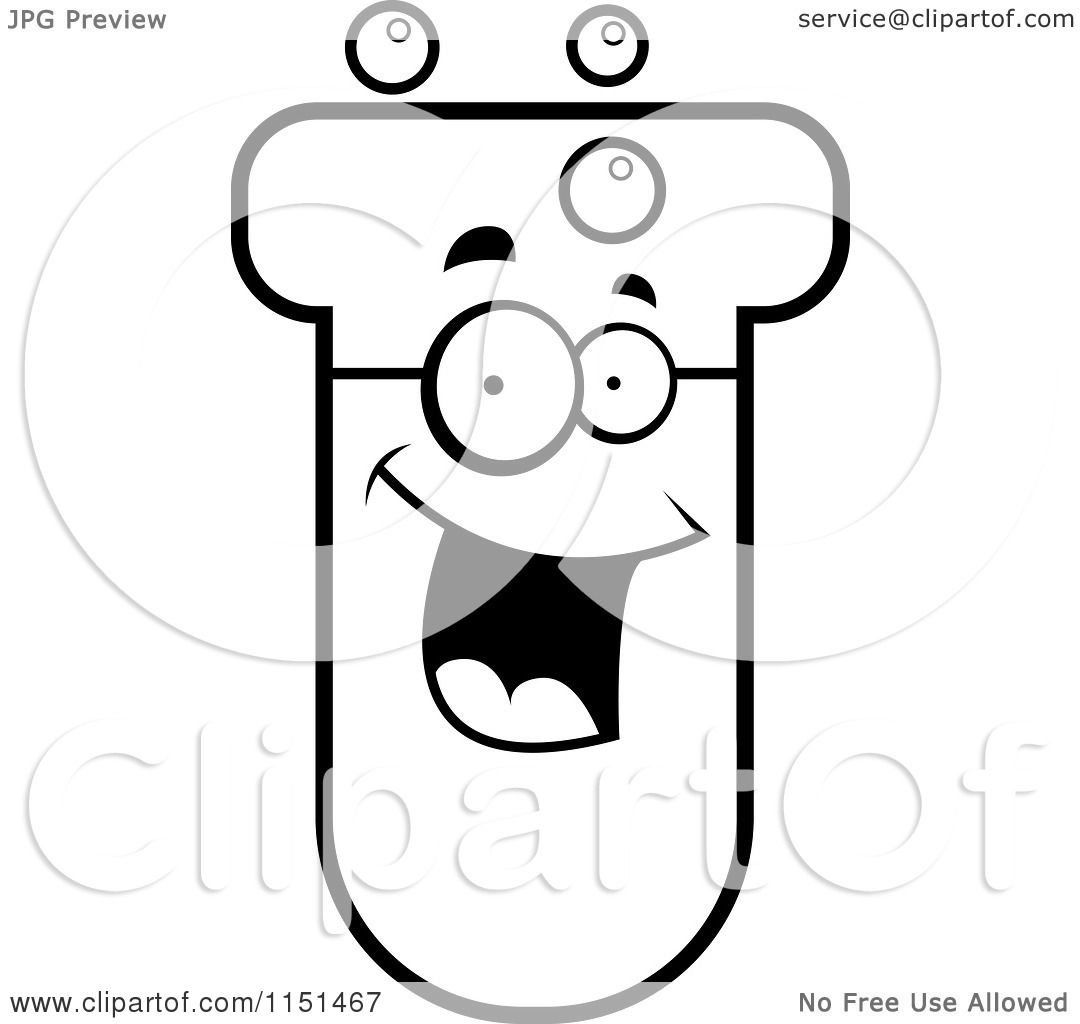 Free coloring pages of a test tube