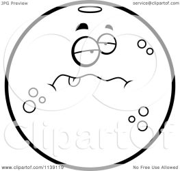 character navel sick orange cartoon clipart coloring vector outlined cory thoman royalty