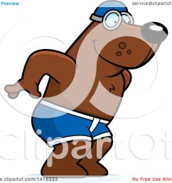 cartoon clipart of a swimmer bear diving royalty free vector illustration by cory thoman [ 1080 x 1024 Pixel ]