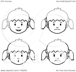 faces cartoon clipart coloring vector thoman outlined cory clipartof royalty without