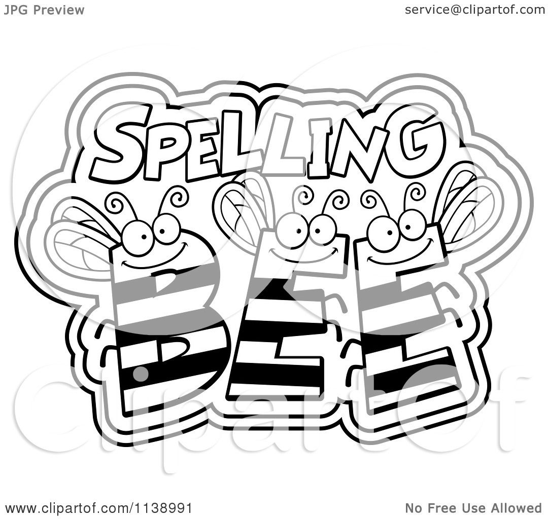 Free coloring pages of spelling bee