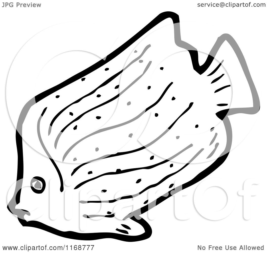 Cartoon Of A Black And White Fish