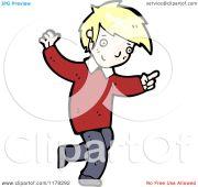 cartoon of blonde haired boy