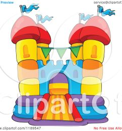 cartoon of a colorful bouncy house castle royalty free vector clipart by visekart [ 1080 x 1024 Pixel ]