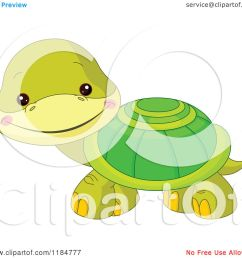cartoon of a cute baby turtle smiling royalty free vector clipart by pushkin [ 1080 x 1024 Pixel ]