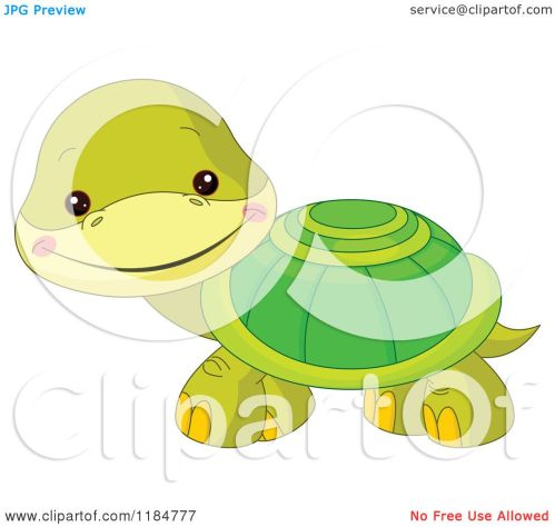 small resolution of cartoon of a cute baby turtle smiling royalty free vector clipart by pushkin