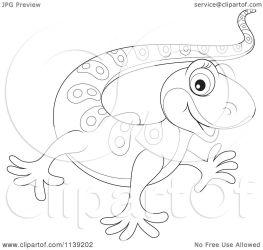 cute gecko baby clipart cartoon vector royalty bannykh alex illustration