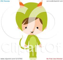 monster costume halloween boy clipart cute cartoon vector royalty peachidesigns illustration regarding notes