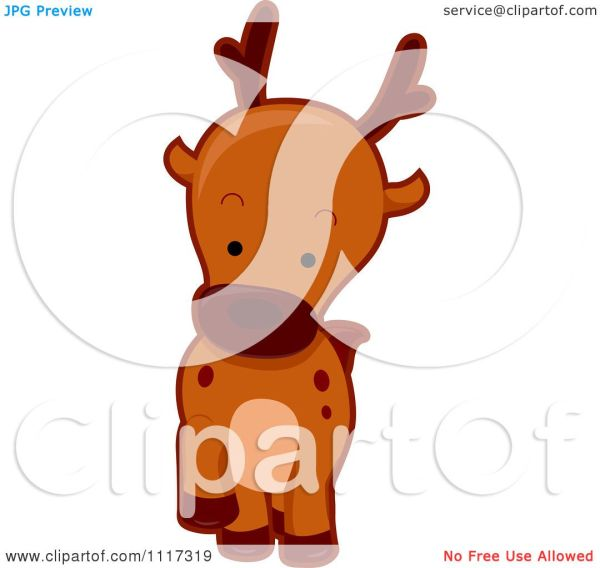 Cartoon Of Cute Deer - Royalty Free Vector Clipart Bnp Design Studio #1117319