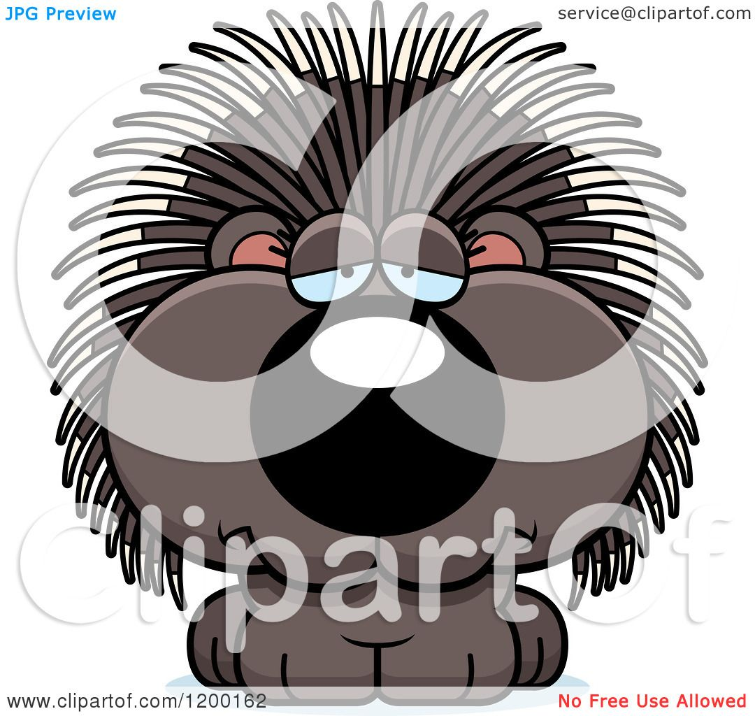 hight resolution of cartoon of a depressed porcupine porcupet royalty free vector clipart by cory thoman