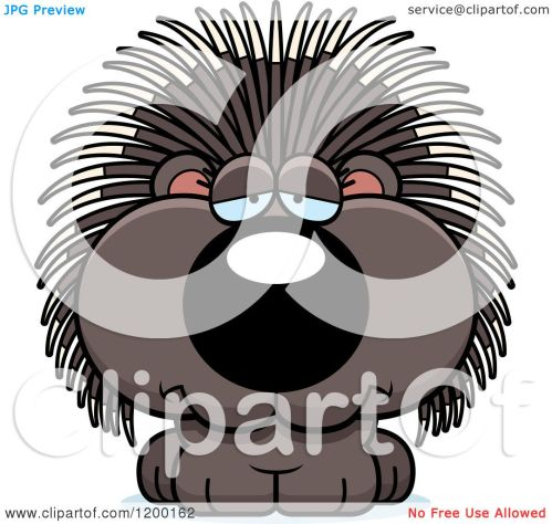 small resolution of cartoon of a depressed porcupine porcupet royalty free vector clipart by cory thoman