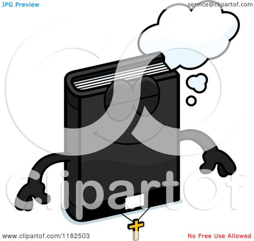 small resolution of cartoon of a dreaming bible mascot royalty free vector clipart by cory thoman