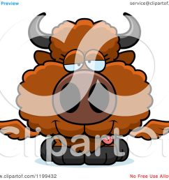 cartoon of a drunk winged buffalo calf royalty free vector clipart by cory thoman [ 1080 x 1024 Pixel ]