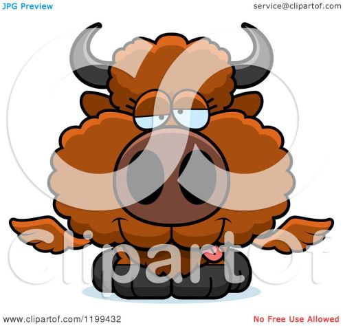 small resolution of cartoon of a drunk winged buffalo calf royalty free vector clipart by cory thoman