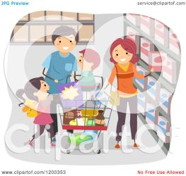 shopping grocery happy clipart cartoon royalty vector studio bnp without illustration collc0148 protected license copyright law
