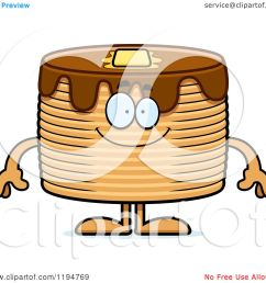 cartoon of a happy pancakes mascot royalty free vector clipart by cory thoman [ 1080 x 1024 Pixel ]