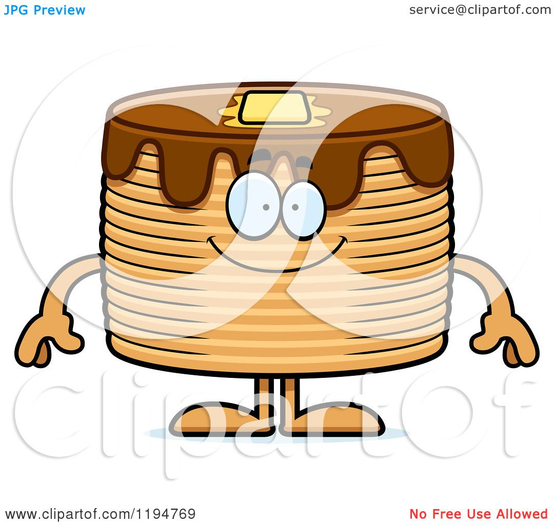 hight resolution of cartoon of a happy pancakes mascot royalty free vector clipart by cory thoman
