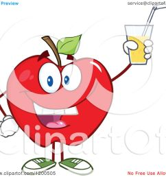 cartoon of a happy red apple holding up a glass of juice or cider royalty [ 1080 x 1024 Pixel ]