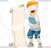 cartoon of happy red haired boy