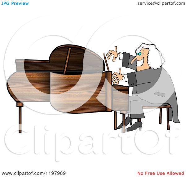 cartoon of happy smiling classical